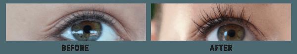 Kaja Jeromel Before and After using Lux-Factor Eyelash serum